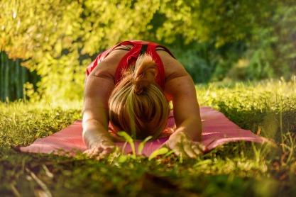 Yoga outside photo